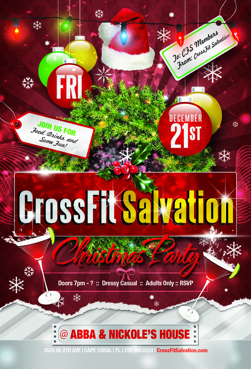 CFS Christmas Party Flyer Red